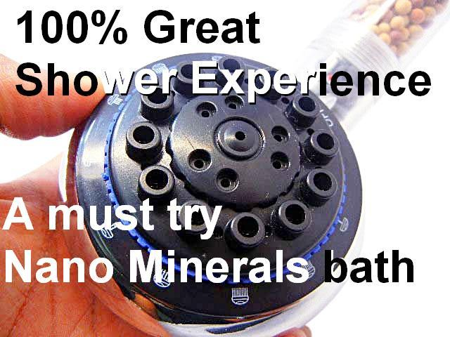 1 x Germanium Ions Shower head - water filter ionizer healthy shower