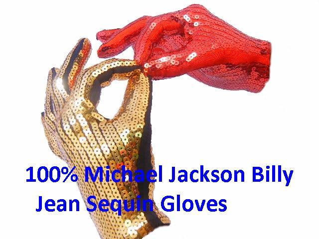 1 X Michael Jackson Sequin Gloves