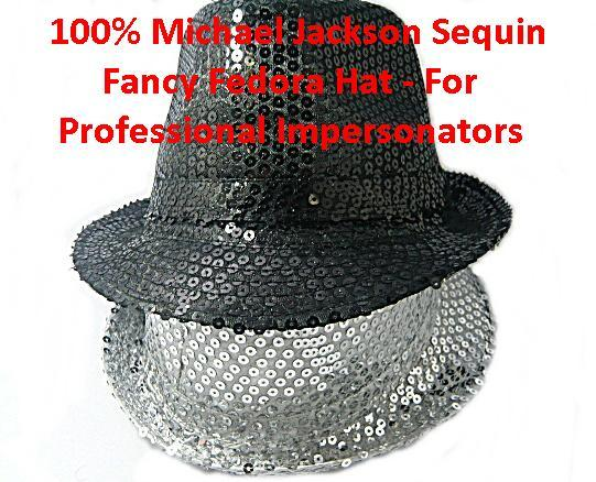 1 X Michael Jackson Sequin Fancy Fedora Hat - For Professional Imperso..
