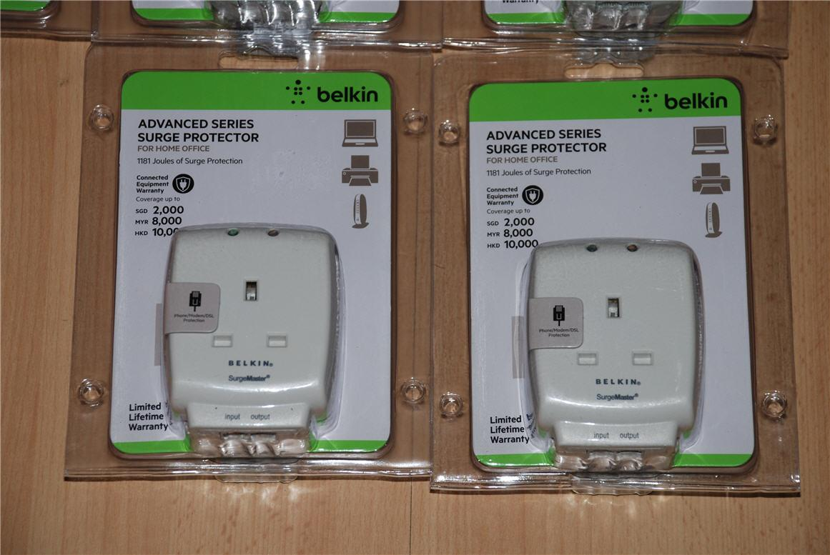 belkin economy series f9e600sa3m 6 way surge protector 3m power
