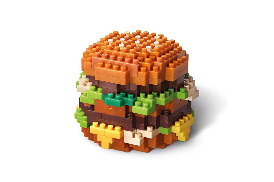 Lego Toy Food : Mcdonalds bigmac nanoblock food icon lego toys penang