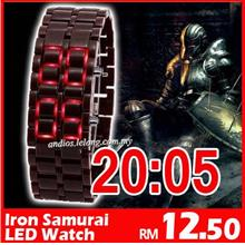 LW01-Iron Samurai Japan LED Watch Jam Import[Wholesale|Harga Borong]