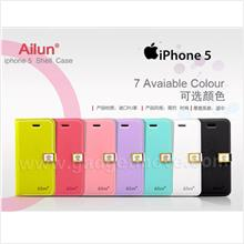 Der Ailun Dairy IPhone 5 Flip Wallet Leather Cover Case Bag Magnectic