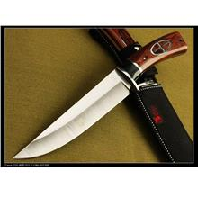 Columbia USA G02 Hunting Knife Wood handle Fixed Blade Survival