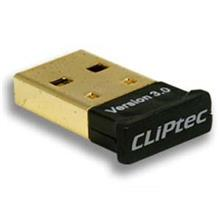 CLIPTEC USB Bluetooth V3.0 HS+EDR Adapter Dongle (Gold Plated)