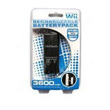 Compact 3600mAh White Rechargeable Battery Pack for Wii Remote w USB