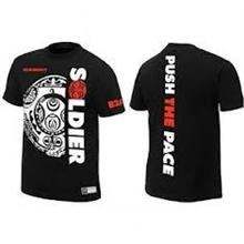 WWE The Rock Soldier PUSH THE PACE Official T Shirt