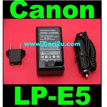 Canon LP-E5 LPE5 Rebel Xs Xsi T1i 450D 500D 1000D Battery Charger