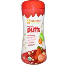 Happy Baby Organic Puff Finger Food - Strawberry