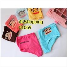 Cute cotton underwear monkey mouth 01069