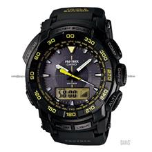 CASIO PRG-550-1A9 Pro Trek Ana-Digi solar resin strap black yellow