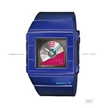 CASIO BGA-201-2E Baby-G Ana-Digi CD Record Casket resin strap blue