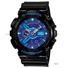 CASIO GA-110HC-1A G-SHOCK Hyper Colour anti-magnetic resin strap black