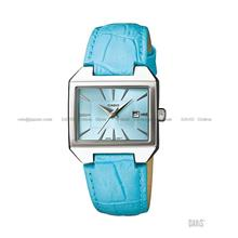 CASIO LTP-1333L-2A STANDARD Analog rectangular date leather strap blue