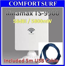 Kinamax TS9900 High Power Wifi Adapter Booster Wireless + 5M USB Cable