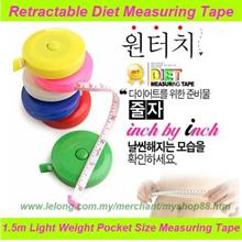 Retractable Measuring Tape 1.5M/ Hot Selling Diet Measuring Tape 150cm