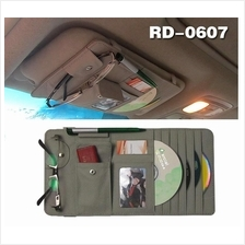 CC024 PROMO! NP RM35 Multifunctional Leather Sun visor Pouch CD Holder