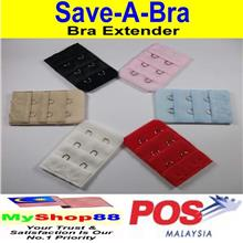 Save-A-Bra/ Bra Extender/ 2 Hook - 3 Row Bra Extender/ 6 Colors