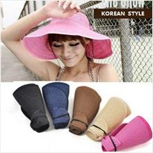 TV015 Travel hat Korean style Straw hat Empty top hat