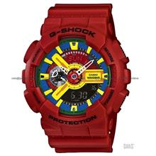 CASIO GA-110FC-1A G-SHOCK Ana-Digi multi-color resin strap red