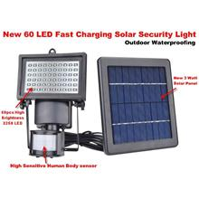 SOLAR POWER 60 LED SECURITY MOTION SENSOR LIGHT- Free Shipping Offer !