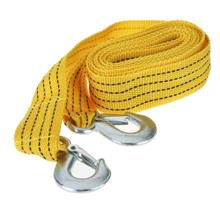 1pc 3Tonnes 12.8FT Tow Cable Towing Rope with Hooks for Heavy Duty Car