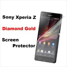 High Flash Surface Diamond Gold SONY Xperia Z L36h Screen Protector SP