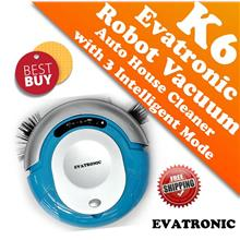 Evatronic K6 Intelligent Mini Robot Vacuum Cleaner with 3 Working Mode