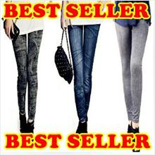 ★BUY 3 FREE 1★Denim Jeans Like Legging ★