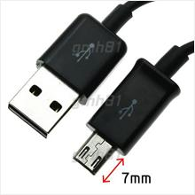 7mm Extra Long Micro USB Data Charging Sync Connectivity Cable v1 OEM