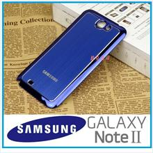 Samsung Galaxy note 2 Aluminum battery cover case Foc Gift(BLUE)