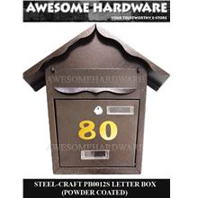 STEEL-CRAFT PB0012S THICK WROUGHT IRON LETTER BOX MAIL BOX POWDER COAT