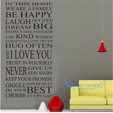In This...Wall Sticker Quotes And Saying Decals Wallpaper home deco