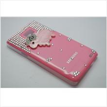 Sheep Handmade Diamond Encrusted Casing for Samsung Galaxy S2 (Pink)