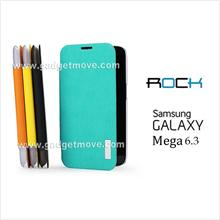ROCK Elegant Samsung Galaxy Mega 6.3 Side Flip Cover Leather Case