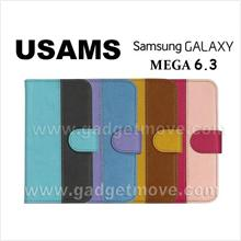 USAMS Samsung Galaxy Mega 6.3 Wallet Leather Case Cover Standable