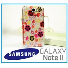 Rain Floral Cover Case for Samsung Galaxy note 2 FOC Gift