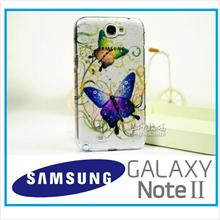 Rain Butterfly Cover Case for Samsung Galaxy note 2 FOC Gift