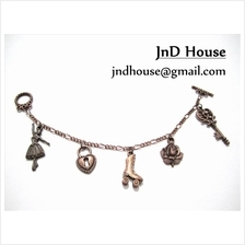 JnD House-Charm Bracelet, Antique Copper-Plated (D2013)