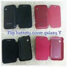 flip leather Battery cover for Samsung Galaxy Y s5360