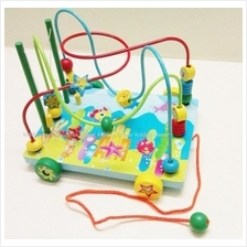 Educational Tpy - Roller Coaster Pull Along Bead Maze Toy