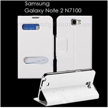 Flip Cover Leather Standable Samsung Galaxy Note 2 Table Talk Case