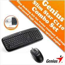 Genius Slim Star C110 Combo Set for Water Resistant Desktop