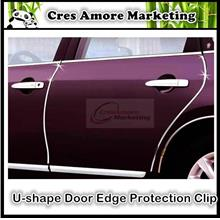 U-shape door edge decoration scratch protective clip 9 colours option
