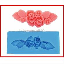 clay004 Flower Polymer Clay Cavity Silicone Mold for Crafts