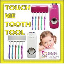 Touch me Automatic Toothpaste Dispenser + Toothbrush Holder