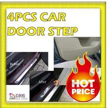 PROMOTION : 4 pcs(1 set) Car Door Step Protection Film