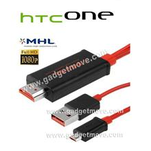 HTC One M7 Butterfly S Micro USB to MHL HDMI HDTV Adapter TV AV cable