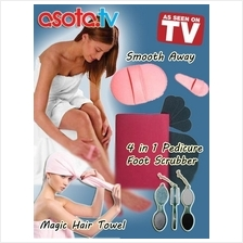 Personal Care Combo! Body Hair Removal+Pedicure+Magic Hair Towel