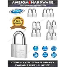 ST GUCHI ANTI CUT PADLOCK HEAVY DUTY PADLOCK KEY ALIKE MASTER KEY SET